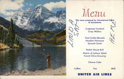 Scenic Maroon Bells United Airlines Menu