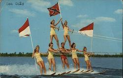 Human Pyramid on Water Skis