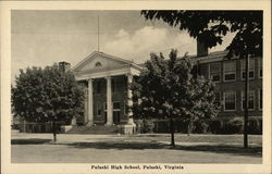 Pulaski High School Postcard