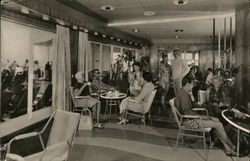 Verandah, Tourist Class, S.S. Statendam of the Holland-America Line