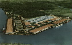 Aerial View of the Port of Lake Charles