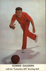 Ronnie Gaudern With His Columbia 300 Bowling Ball