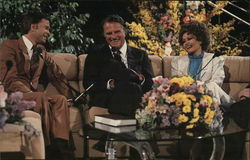 Jim and Tammy Faye Baker with Billy Graham
