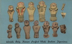 World's Only Known Perfect Moki Indian Figurines