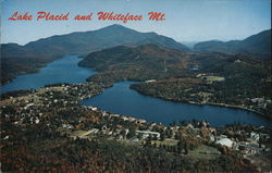 Lake Placid, Mirror Lake and Whiteface Mountain