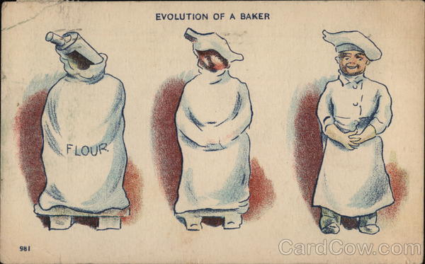 Evolution of a Baker Comic, Funny Cooking