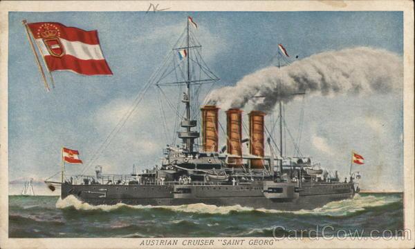Austrian Cruiser Saint Georg Steamers