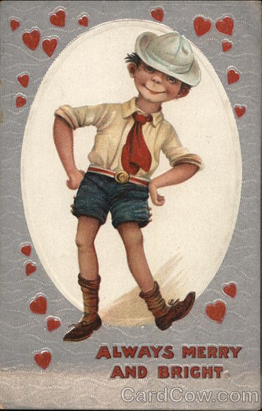 A Little Boy Dancing with Hearts Children