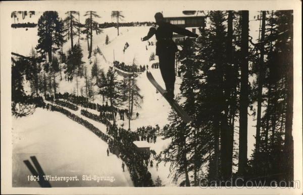 1804 Wintersport, Ski-Sprung Skiing