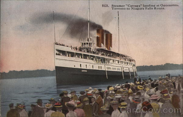 Steamer Cayuga Landing at Queenston Steamers