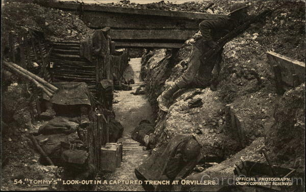 Tommy's Look-Out in a Captured Trench at Orvillers