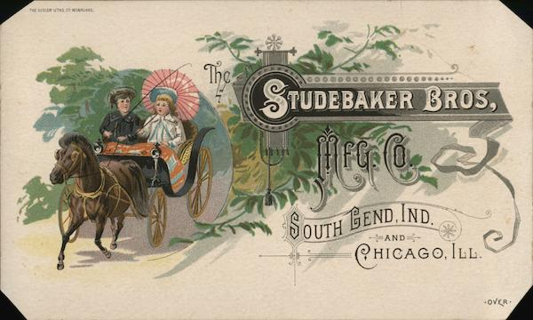 1800's The Studebaker Bros Mfg. Co. South Bend Indiana