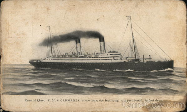 R.M.S. Carmania Steamers