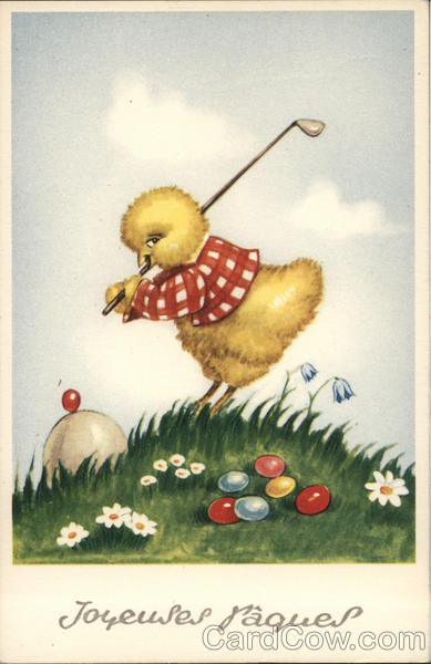 Baby Chick Golfing with Jellybeans With Chicks