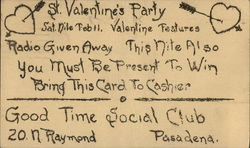 Good Times Social Club St. Valentines Party Invitation