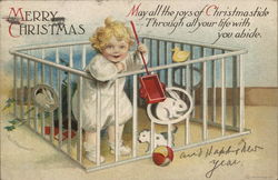 Merry Christmas - Baby in Playpen