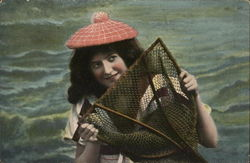 Woman and Fishing Net