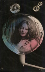 Portrait of Woman in Bubble