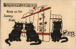 "Three Black Cats, Two Singing ""Keep on the Sunny Side"""