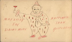 Hand Drawing of Clown