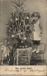 Child and Christmas Tree