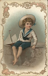 Young Child in Sailor's Uniform