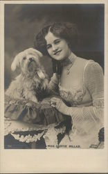 Miss Gertie Millar with her Dog