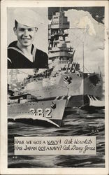 Picture of Navy Warship, Inset of Sailor