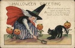Witch Catching Mouse for Cat