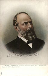 James A. Garfield twentieth President of the U.S. Served from March 4, 1881 to Sept. 19, 1881