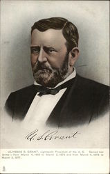 Ulysses S. Grant, eighteenth President of the US Served two terms - from March 4, 1869 to March 3