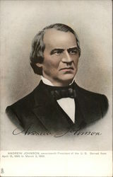 Andrew Johnson, seventeenth President of U.S. Served from April 15, 1865 to March 3, 1869.