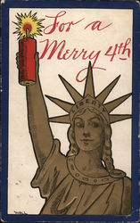 Statue of Liberty Holding a Firecracker