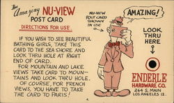 The Amazing Nu-View Post Card, Enderley Hardware Co.