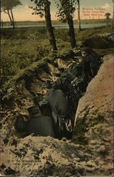 Belgian Soldiers in the Trenches near Maltines