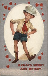 A Little Boy Dancing with Hearts