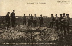 The Burial of Two British Soldiers on the Battlefield