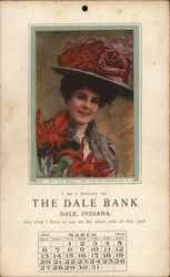 Woman in Hat With Red Flowers Dale Bank