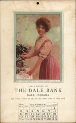 The Dale Bank, Dale, Indiana - Calendar October 1919
