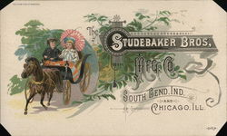 1800's The Studebaker Bros Mfg. Co. Trade Card