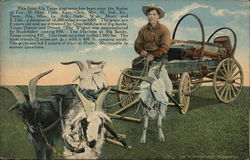 Four-Up Texas Goat Team - Overland Jack Studebaker