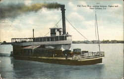 Old Ferry Boat Postcard