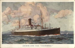 "Anchor Line--T.S.S. ""California"""