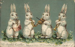 Four Bunnies Playing Instruments