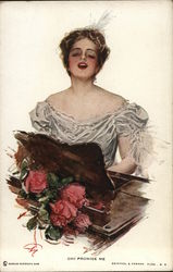 Oh, Promise Me - Woman Singing at Piano with Roses