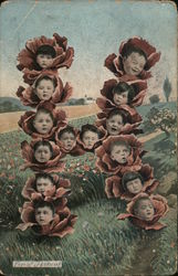 "Children's Heads in Cabbages - Ltter ""H"""