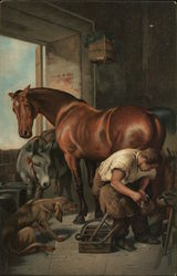 Shoeing the Bay Mare by Sir Edwin Landseer
