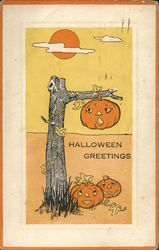 Halloween Greetings Postcard