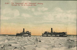 The Newburgh and Ramsdell Plowing Through the Ice on Cornwall Bay