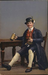 Well Dressed Man Sitting, with Stein of Beer